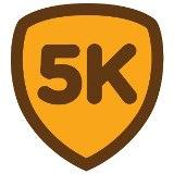 5k бейдж Foursquare