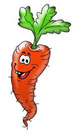 Веселая домашняя морковка