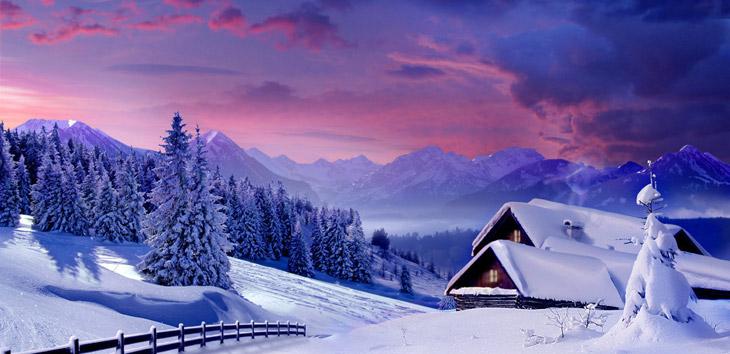 Зима - красивое небо