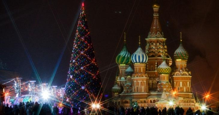 Новый Год в России - Красная площадь