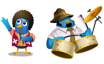 Музыкальные твиттер птички