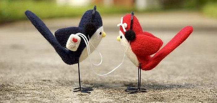Твиттер птички в наушниках