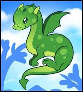 Как нарисовать дракона этап 3