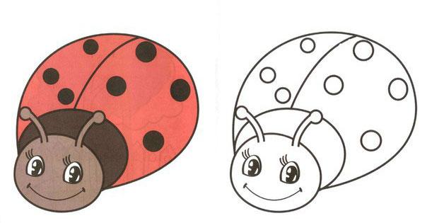 раскраски для самых маленьких уточка мячик свинка и др