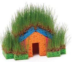 Травяной домик для детей своими руками