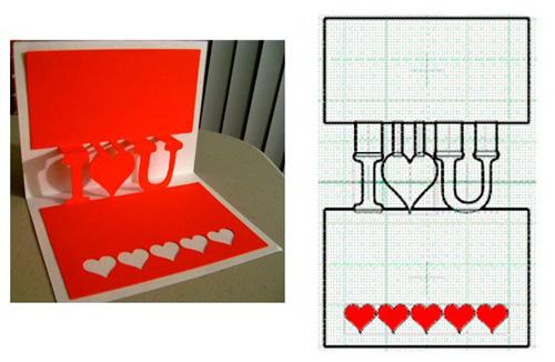 Объемные открытки-валентики ко Дню Святого Валентина