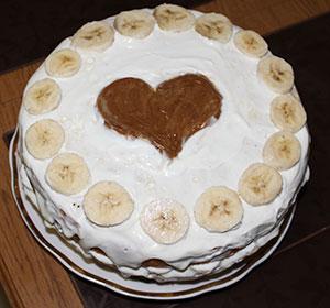 Банановый тортик с творожным кремом